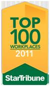 Star Tribune Top 100 Workplaces 2011 award