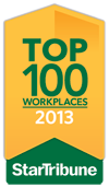 Star Tribune Top 100 Workplaces 2013 award
