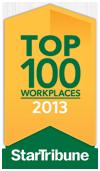 Star Tribune Top 100 Workplaces 2013 award