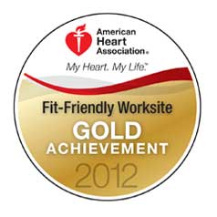 American Heart Association fit and friendly worksite award 2012