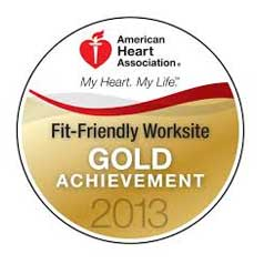 American Heart Association fit and friendly worksite award 2013