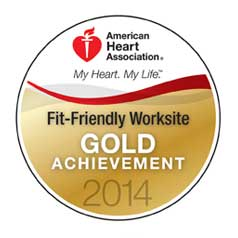 American Heart Association fit and friendly worksite award 2014