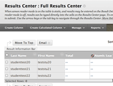 Atomic Learning Results Center screen capture