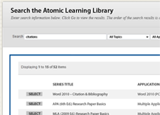 Atomic Learning Mashup screen capture