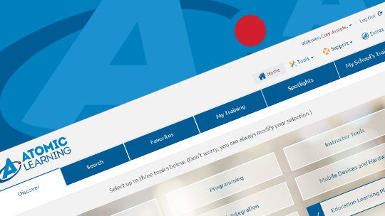 Atomic Learning Web Site - Administrative Features