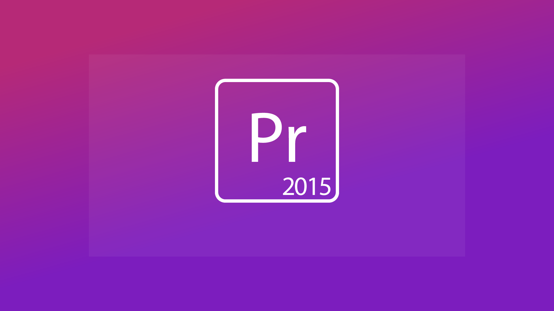 Premiere Pro Creative Cloud 2015