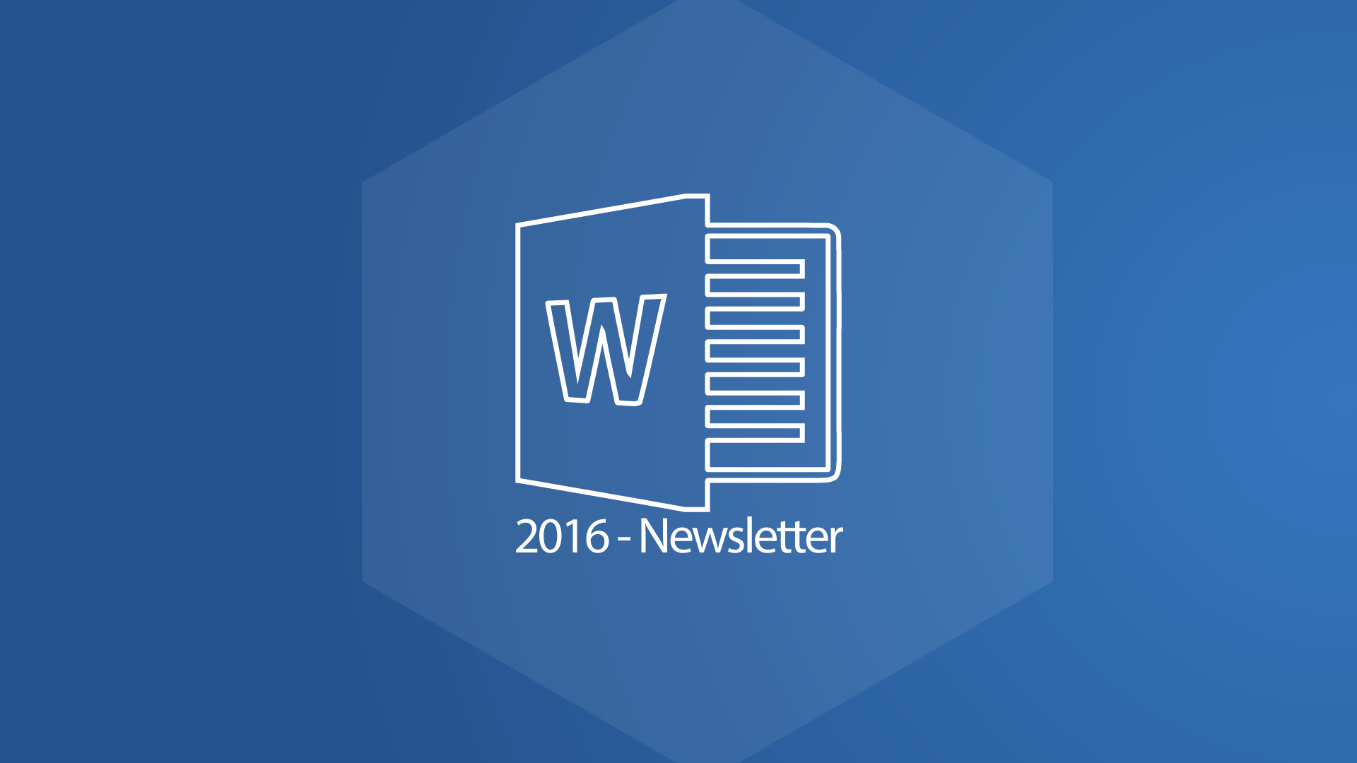 Word 2016 Newsletter