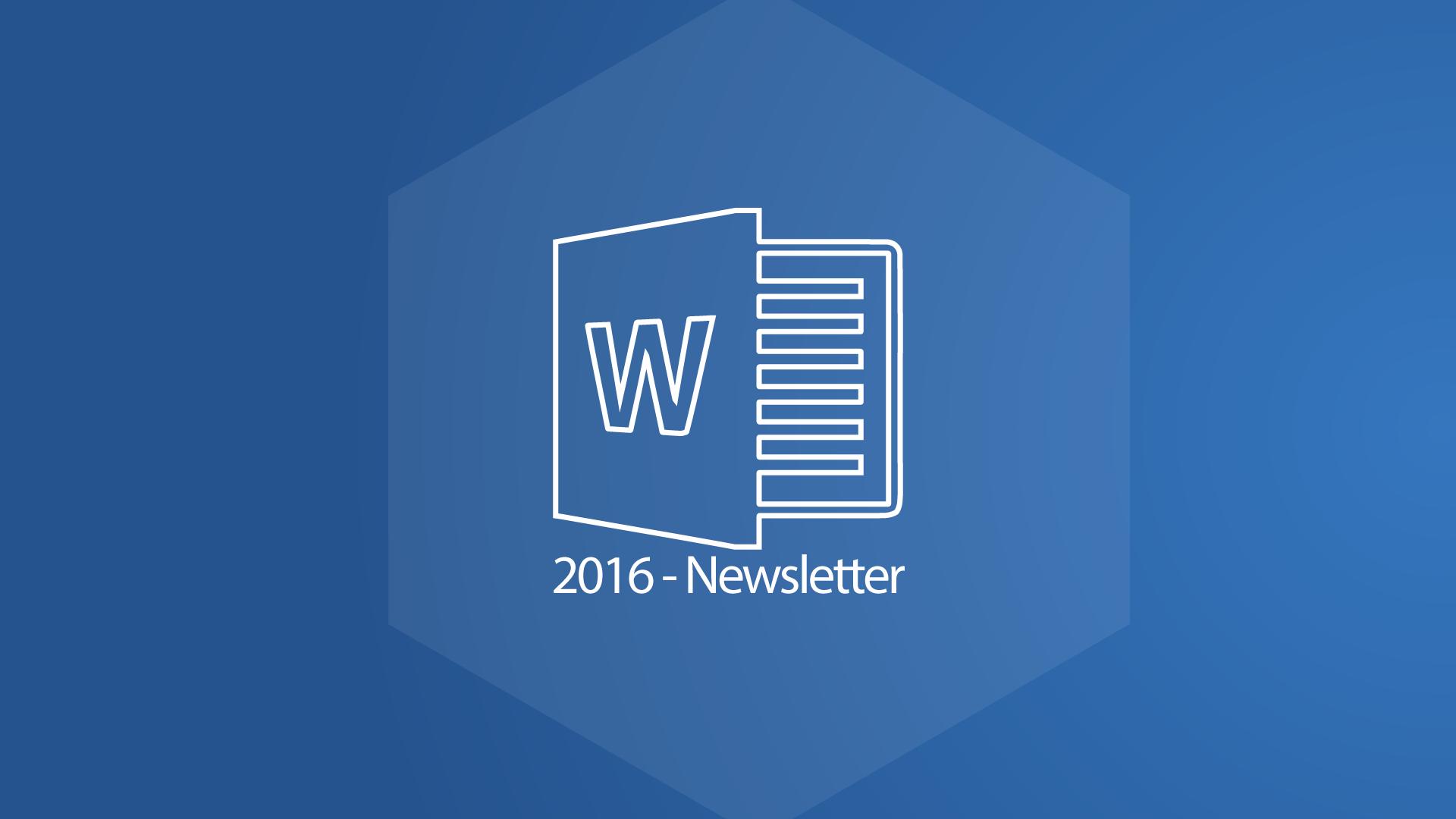 Word 2016 Newsletter