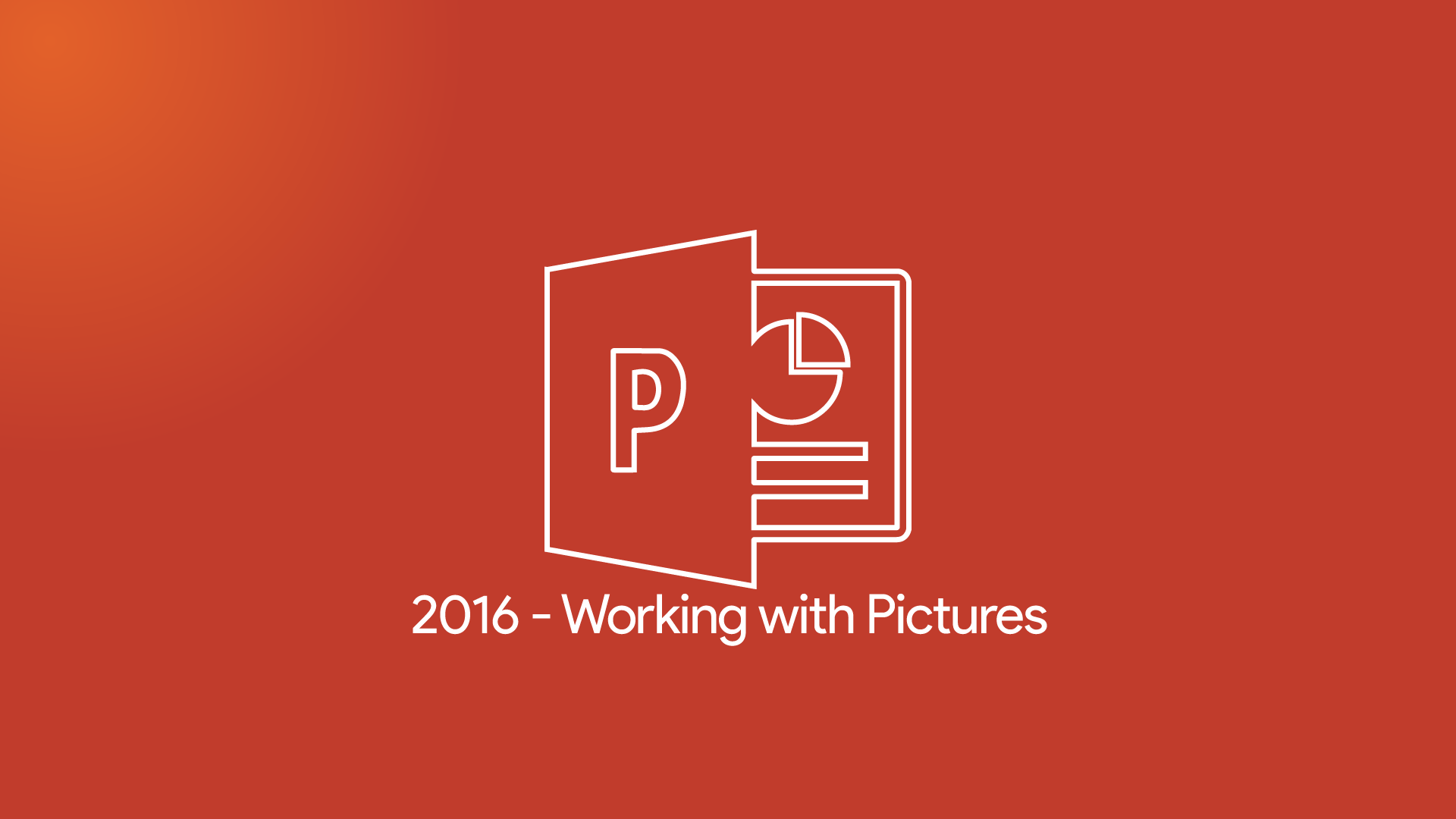 PowerPoint 2016 - Working with Pictures